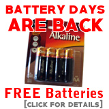 Free Batteries With Orders Over $25