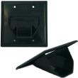 2-Gang Recessed Low Voltage Cable Plate - Black