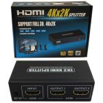 2 Way HDMI v1.4 Splitter with Full 3D and 4Kx2K