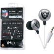 iHip NFL Team Logo Earphones - Oakland Raiders