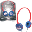 iHip NFL Team Logo DJ Style Headphones - New York Giants