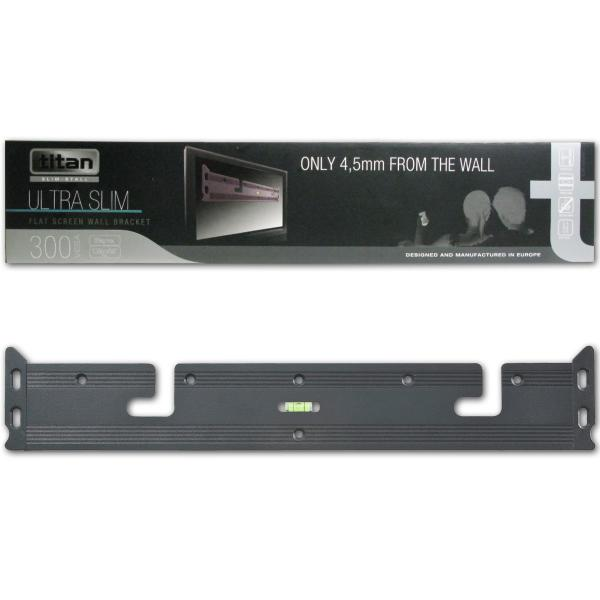 "Titan Ultra Slim Flat Screen TV Wall Bracket - Fits up to 55"" - Click Image to Close"