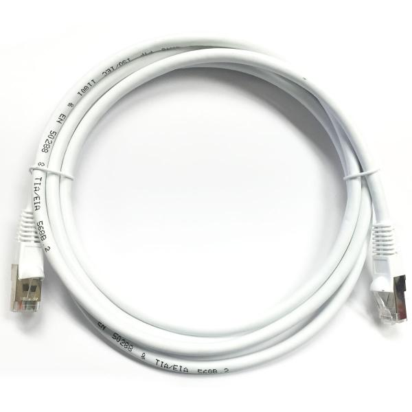 10' CAT5e (350 MHz) STP Shielded Network Cable - White