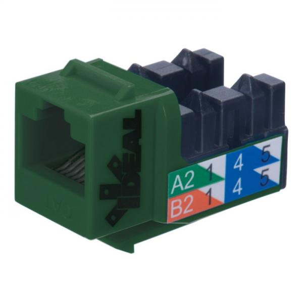 CAT5e RJ45 110 Type 90 - T568A/B - Green - Ideal Industries - Click Image to Close